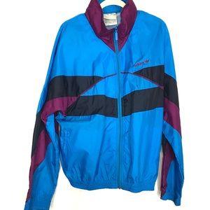 Vintage Adidas Bright Blue Windbreaker jacket